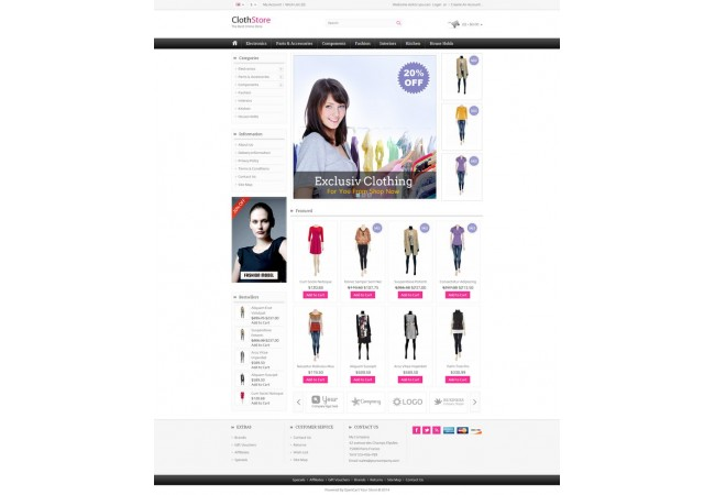 Clothes Store  Template 5